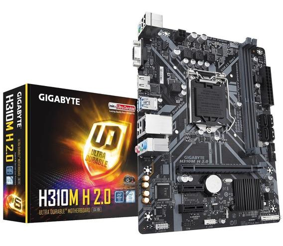 Placa Mãe Intel Lga 1151 Gigabyte H310 M H 2.0 Ddr4 Vga Hdmi