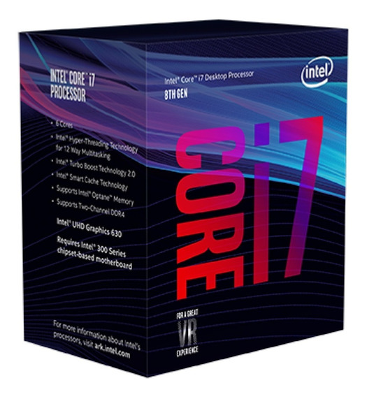 Processador Intel Core I7-8700k (coffee Lake),hexa-core, 3.7