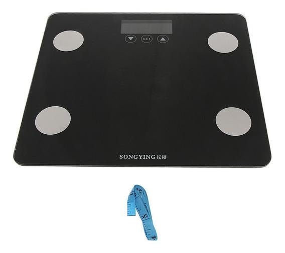 Lcd Digital Electronic Batoom Báscula De Cuerpo Negro 400