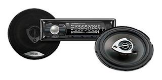 Kit Radio De Auto Bluetooth Usb Aux + 2 Parlantes 150w 6.5