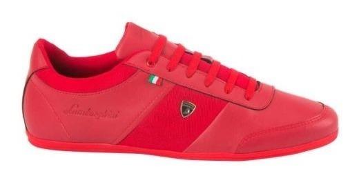 Tenis Casual Lamborghini 7784 Id 821501 Rojo Para Hombre