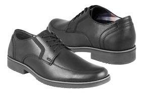 Zapatos De Vestir Flexi Para Hombre Piel Negro 50903