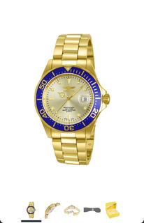 Reloj Invicta 14124 Pro Diver Oro Dial Acero Inoxidable