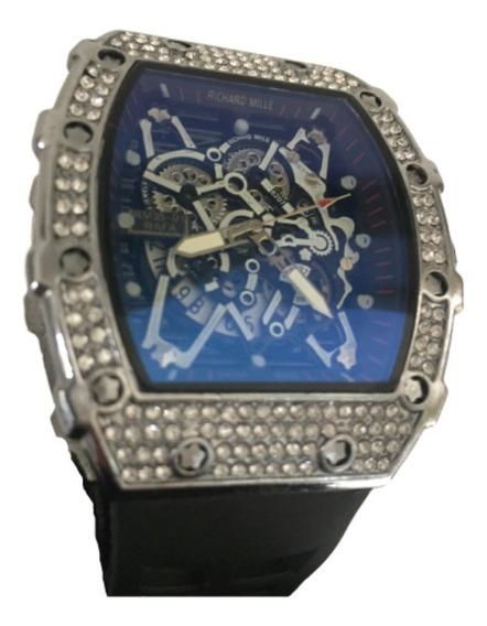 Relógio Cravejado Richard Rm 35-01 Prata