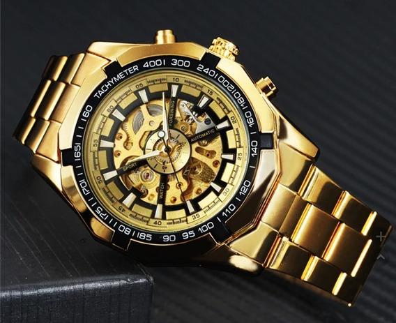 Relógio Automático Forsining Esqueleto!