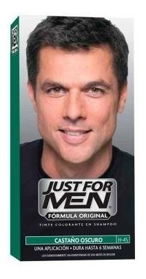 Just For Men Tintura En Shampoo Color Castaño Oscuro