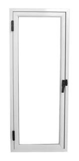 Ventana De Aluminio Blanco Raja De 80x30cm Vidrio Entero .