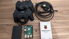 Raspberry Pi Model B Cartão 64gb Classe 10 2 Controles Case