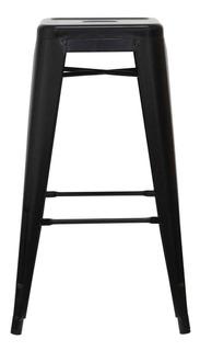 Taburete Piso Alto 76 Tolix Replica Negro Form
