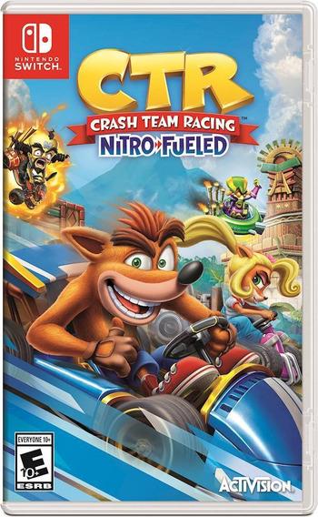 Crash Team Racing Nitro-fueled Switch Mídia Física Lacrado