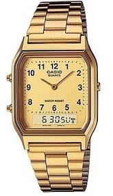 Relógio Casio Vintage Unissex Anadigi Aq-230ga-9bmq