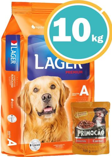 Imagen 1 de 7 de Ración Para Perro Lager Adulto 10kg+ Obsequio + Envío Gratis