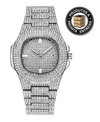 Relógio Cravejado Luxury A Pronta Entrega