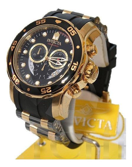 Relógio 6981 Pro Diver Dourado B. Ouro 18k Preto - Invicta