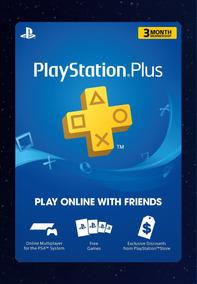 Ps Plus 3 Meses Suscripción Ps3 Ps4 Playstation Gamerstore