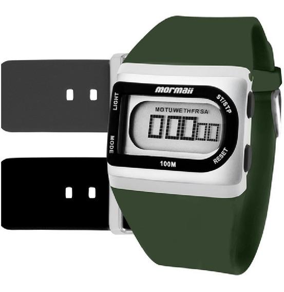 Relógio Mormaii Kit Digital Borracha Unissex Fzg/t8w