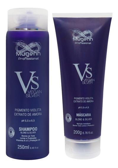 Kit Shampoo + Máscara Vegan Silver & Blond Mugenn