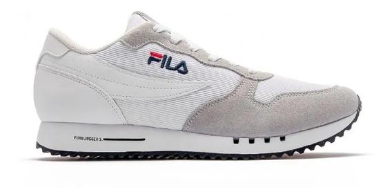 Zapatillas Fila Lifestyle Hombre Euro Jogger Bco-gris Cli