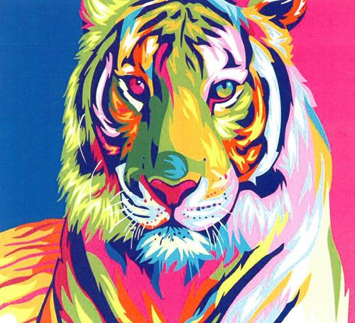 Kit Para Pintar Por Números Para Adultos, Tigre