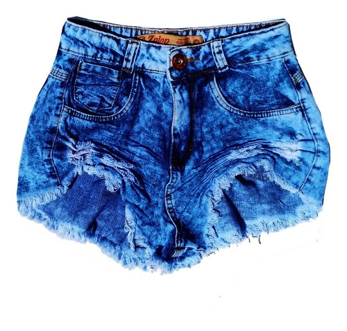 Shorts Cos Alto Cintura Alta Desfiado Destroyed St002