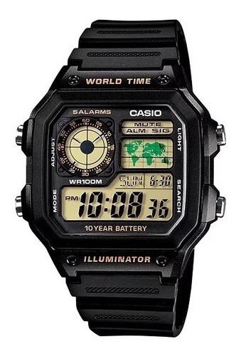 Reloj Casio Hombre Ae-1200wh-1b P Orig Local Barrio Belgrano