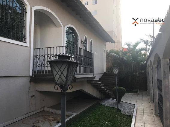 Sobrado Alto Padrão Com 4 Dormitórios E Piscina À Venda, 630 M² Por R$ 1.950.000 - Vila Alpina - Santo André/sp - So0480