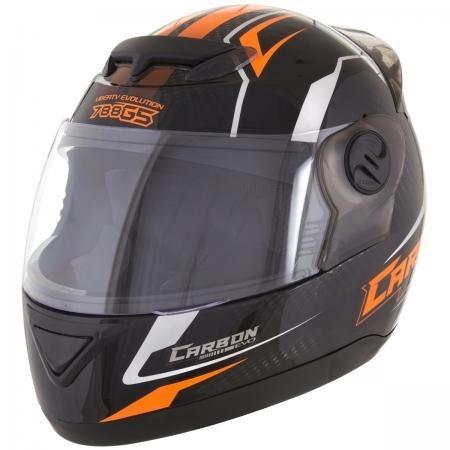Capacete Evolution G5 788 Carbon Evo Preto/laranja 60