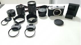 Máquina Fotográfica Canon Eos-m6 + Conjunto Lentes Nativas