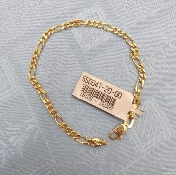 Pulseira Banhada Ouro Masculina Fio 3x1 Com Garantia Eterna