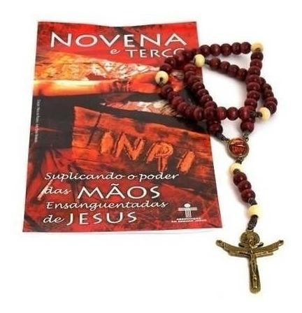 Terço Novena Com Oração G Mãos Ensanguentadas