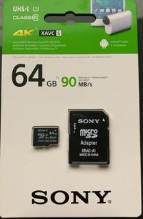 Cartao De Memória Micro Sd Sony 4k 64gb