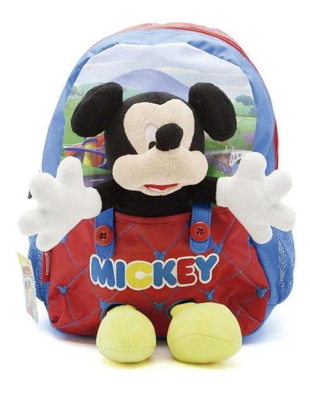Mochila De Espalda Mickey Con Peluche Disney Original 13