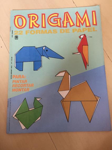 Revista Origami 1 Elefantes Coelho Papagaio Gato Z698