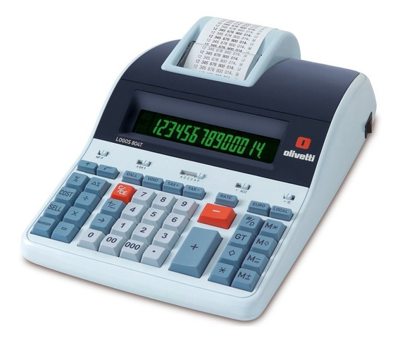 Calculadora Mesa Olivetti Logos 804t Térmica De 14 Dígitos