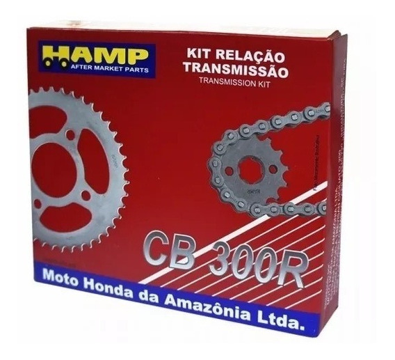 Kit Relação Transmissão Hamp Original Honda Cb 300 Retentor