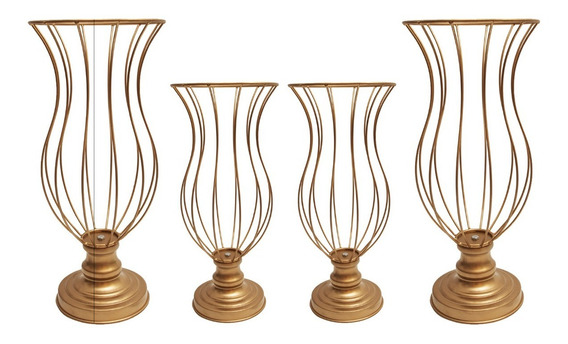 Kit 2 Vasos Aramados De 35cm E 2 Vasos De 45cm Melhor Preço