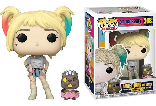 Funko Pop Dc Heroes Birds Of Prey Harley Quinn With Beaver