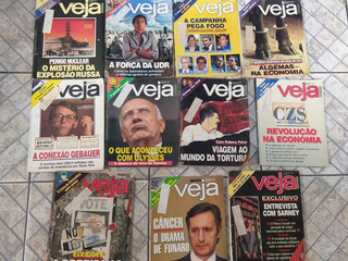 130 Revistas Veja Anos 79,80,81,82,84,85,86,87