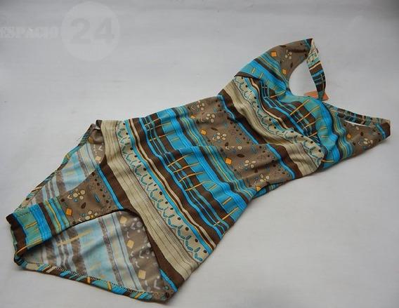 Malla Entera Vintage Jersey Poliamida Estampado Multicolor
