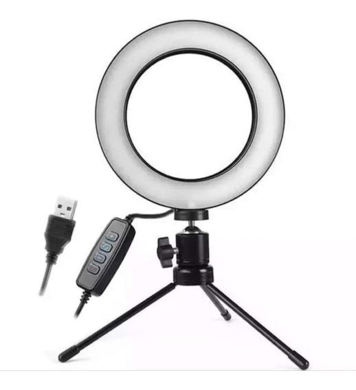 Iluminador De Led Com Tripe Ring Light