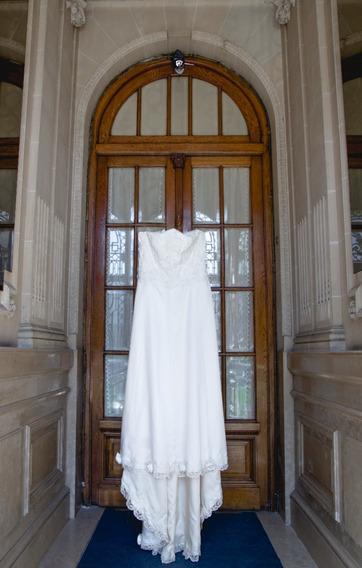 Vestido De Novia De Modista Alta Costura Usado