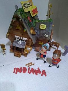Dipper Y Mabel Gravity Falls Porcelana Fría Adorno De Torta