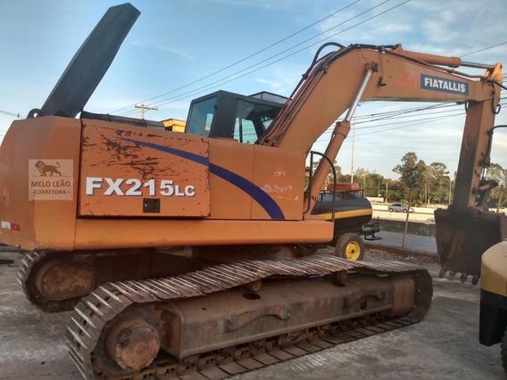 Escavadeira Fiatallis Fx215 Lc - Ano 2004 - Toda Original