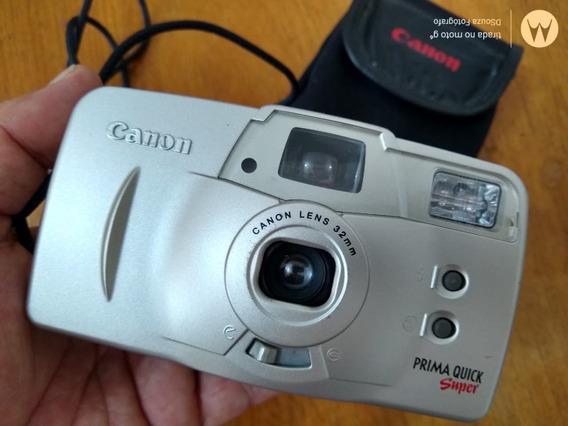 Câmera Fotográfica Canon Prima Quick Super Analógica