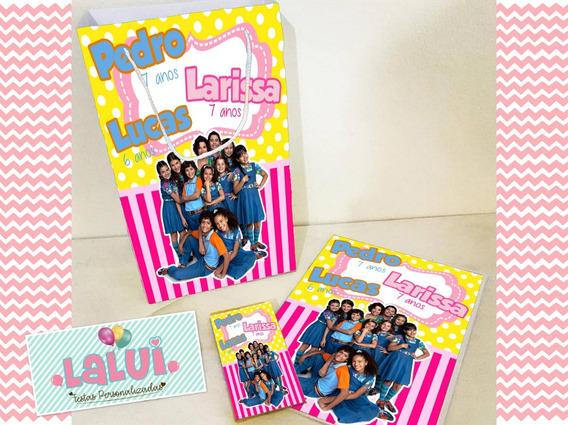 30 Kit Colorir Chiquititas Sacola Revista Personalizados