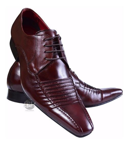 Sapato Masculino Social Italiano Lançamento Solado 100%couro