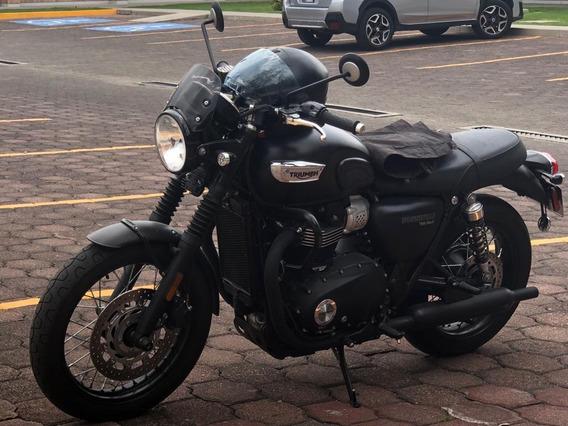 Triumph Bonevile T100 Black 2018 Con Accesorios, Increíble..