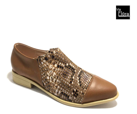 Zapatos De Mujer Punta Fina Reptil Animal Print (jm/lola)