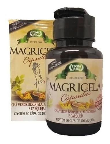 Suplemento Emagrecedor Magricela 60 Caps Chá Verde Berinjela