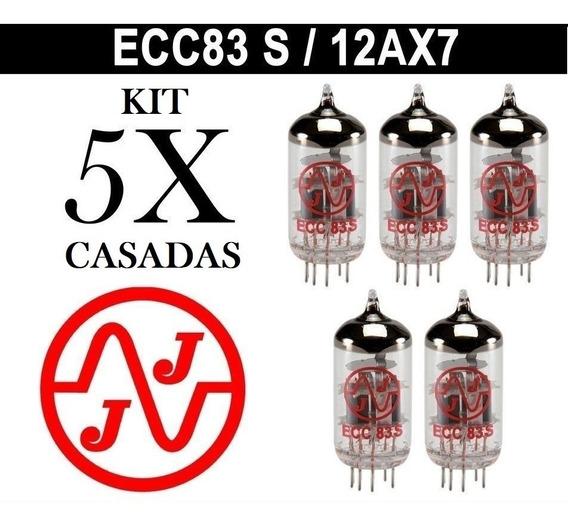 Kit 5 Xválvula 12ax7 Ecc83s Quinteto Casado Testadas